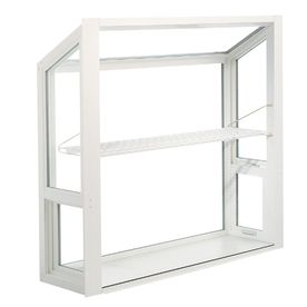 costco kitchen remodel industrial cart thermastar by pella 48-in x 36-in garden window | for the ...