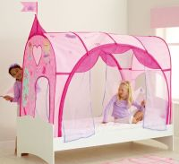 girls bed tent | Girls pink Princess bed canopy. Pink and ...