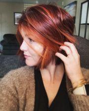 red bob hair ideas