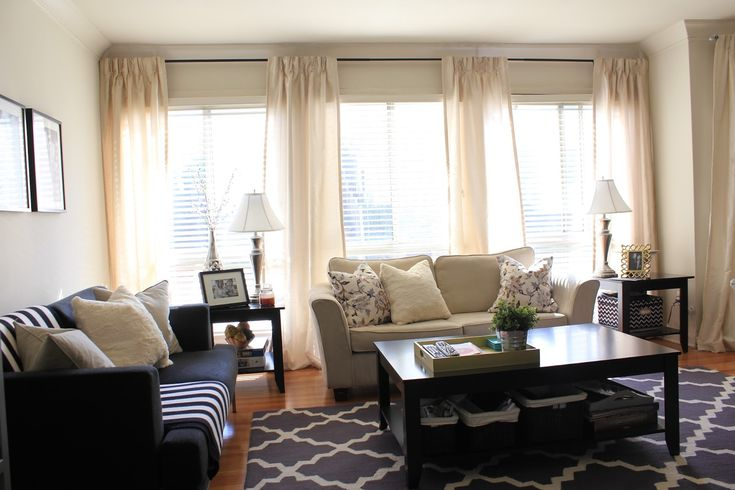 living room window sill decorating ideas closeout furniture sets curtains for 3 windows together | ... have four panels