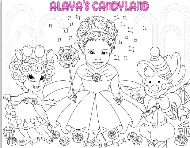 coloring page for alaya's candyland.  tls weddings
