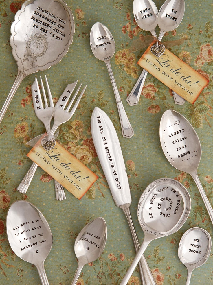 672 Best Images About Silverware Craft DIY Flatware On