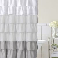 Home Classics Ruffle Ombre Fabric Shower Curtain ...