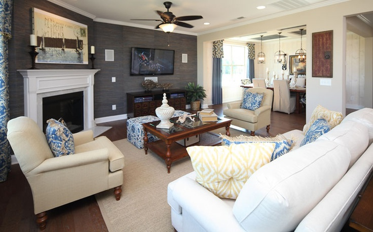 living room furniture layout with corner fireplace www houzz com great-room: and tv placement | home inspiration ...