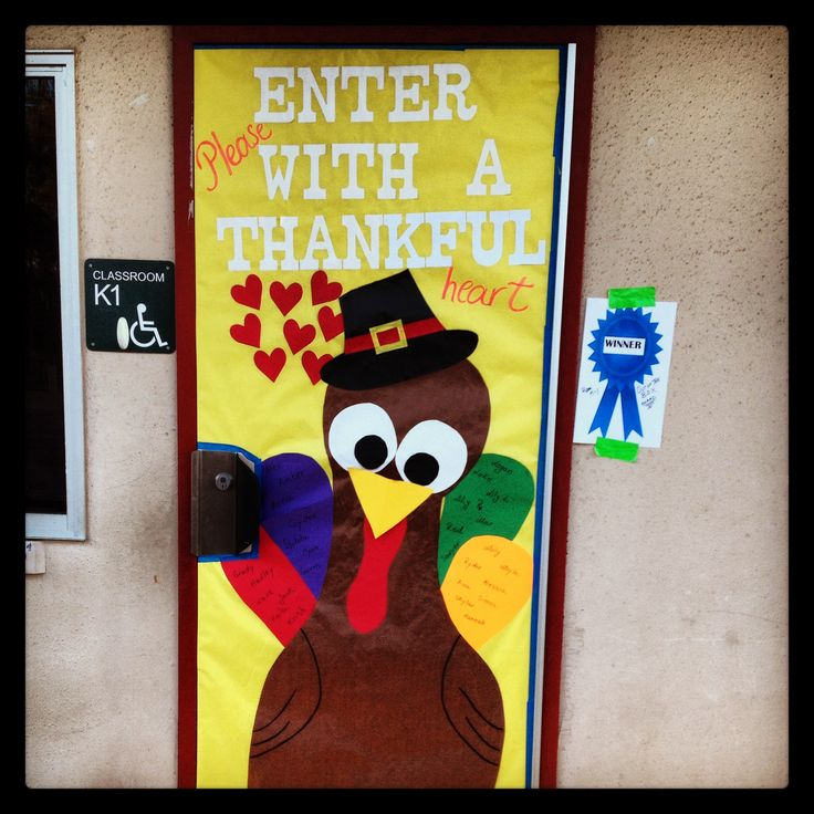 Thanksgiving turkey classroom door