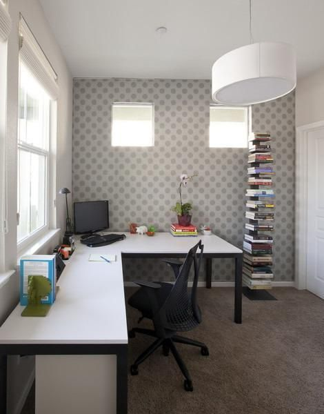 space saving home office idea 30 Corner Office Designs and Space Saving Furniture Placement Ideas | Home office design, Space