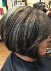 ideas gray hair highlights