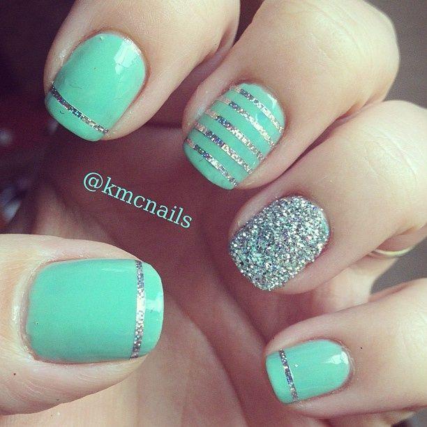 25 Best images about Mint nails on Pinterest