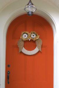 17 Best ideas about Owl Wreaths on Pinterest   Fall door ...