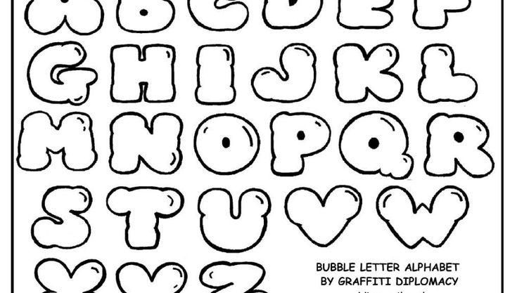 Free Printable Letters Size Alphabet  Bubble Letters