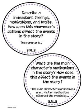 Common Core Reading Comprehension Questions 3rd Grade