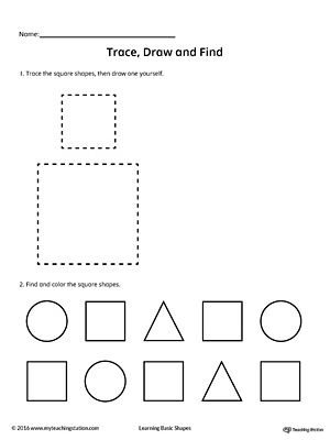 97 best images about Shapes Worksheets on Pinterest