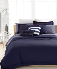 Lacoste Bedding, Solid Peacoat Brushed Twill Comforter and
