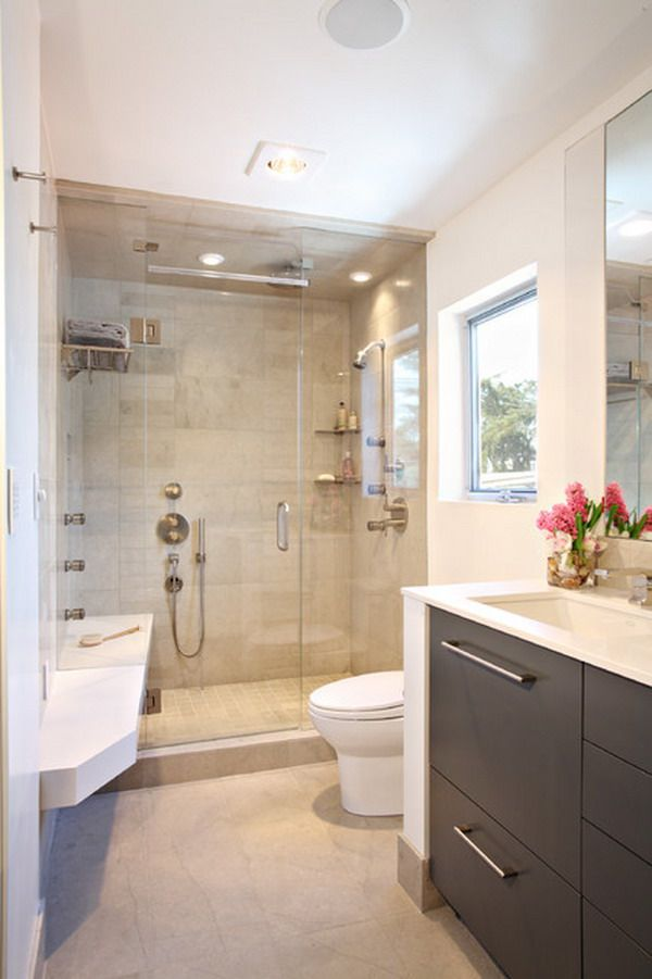 Contemporary Small Luxury Bathroom Design with Compact ...