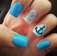 Cute Nails - anchor nail art - 60 Cute Anchor Nail Designs ...