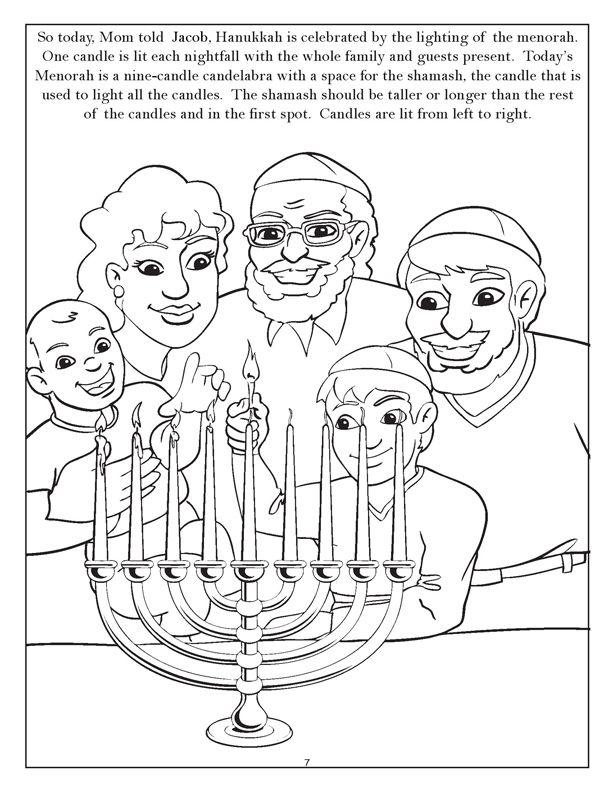 17 Best images about Hanukkah Coloring Pages on Pinterest