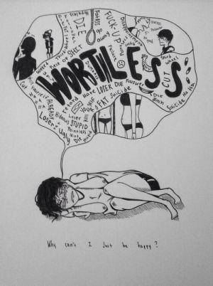 drawings depression happy sad cabeza mi easy drawing suicide sketches demonios mil self google broken cartoons voices sep
