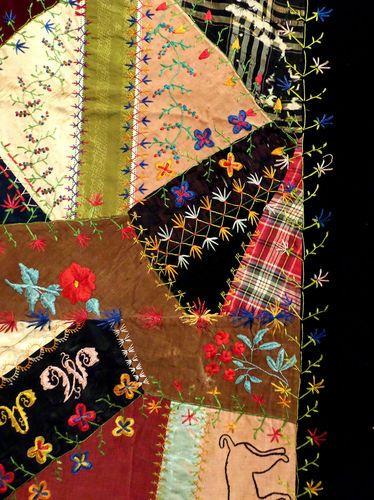 17 Best Images About Vintage Crazy Quilting On Pinterest