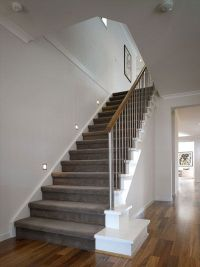 Grey Carpet with Stairs View deck railing ideas at http ...