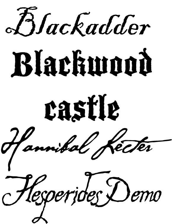 halloween font sample