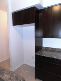 "24"" Deep Cabinet over Fridge with 24"" Deep Side Gable ..."