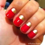 red gold moon nail polish