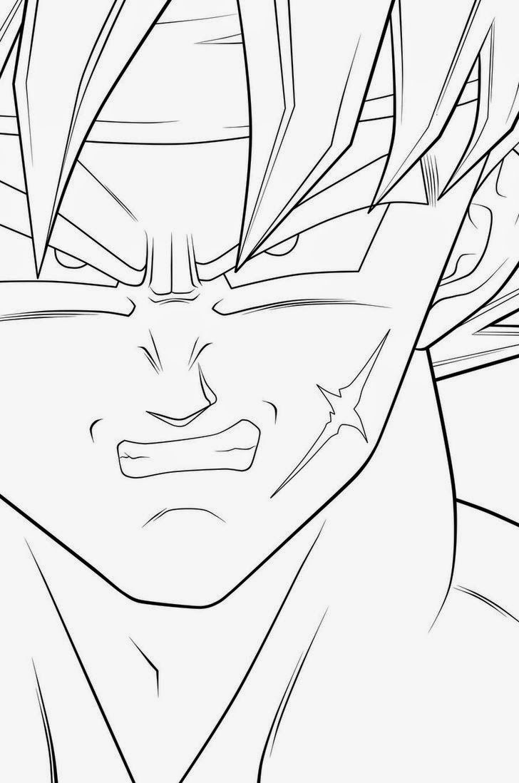 Imagenes De Goku Para Colorear Fase Dios Azul