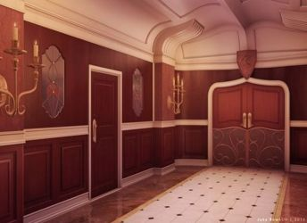 background anime novel visual episode backgrounds interactive scenery hallway hall palace princess hallways game novels bathroom deviantart sunset places town