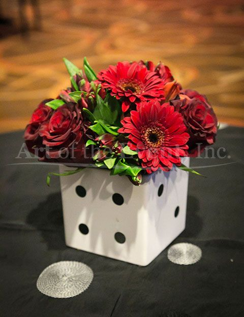 Dice Vases Bring A Casino Or Game Night Theme To Life