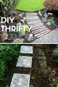 7 Thrifty Designs for a DIY Walkway | Gardens, Backyards ...