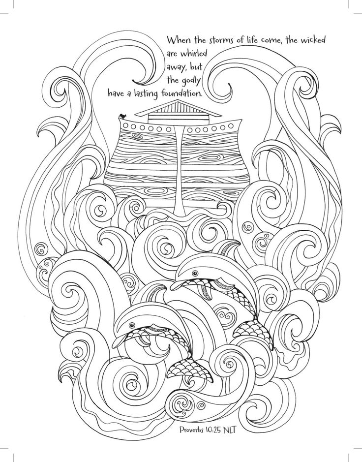 The Great Flood Coloring Page