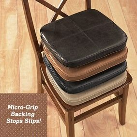 faux leather chair pads swing covers argos pads, chairs and on pinterest