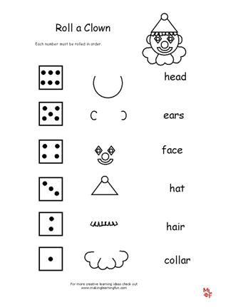 17 Best images about Circus Early Learning Printables and