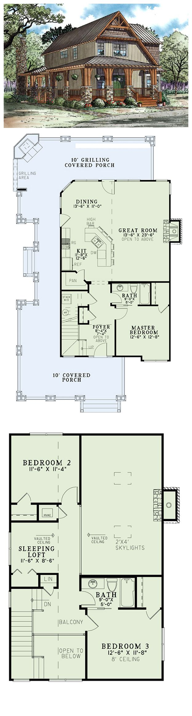 House Plan 82251 | Total living area: 1705 sq ft, 3 bedrooms & 2 bathrooms. Family and friends will create