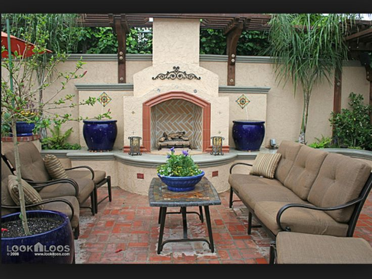 Spanish Style Backyard Patio  gardening ideas  Pinterest  Backyards Style and Backyard patio