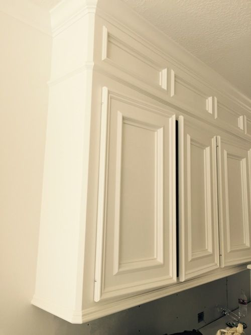 decorative molding kitchen cabinets ikea drawers how to make ugly look great!