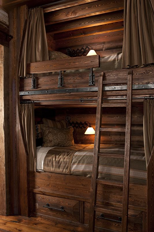 Bunkbeds I Like The Curtain Rod Type Thing On The Beds Bedroom Ideas Pinterest Curtain