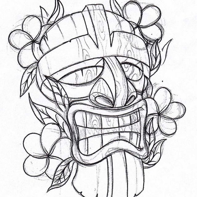 best images about tiki mask tattoo on pinterest  tiki