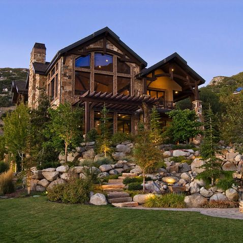 gorgeous terraced landscaping