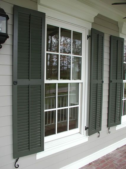 Classic Louvered Shutter With Faux Tilt Rod Pull Rings For The Home Pinterest Search