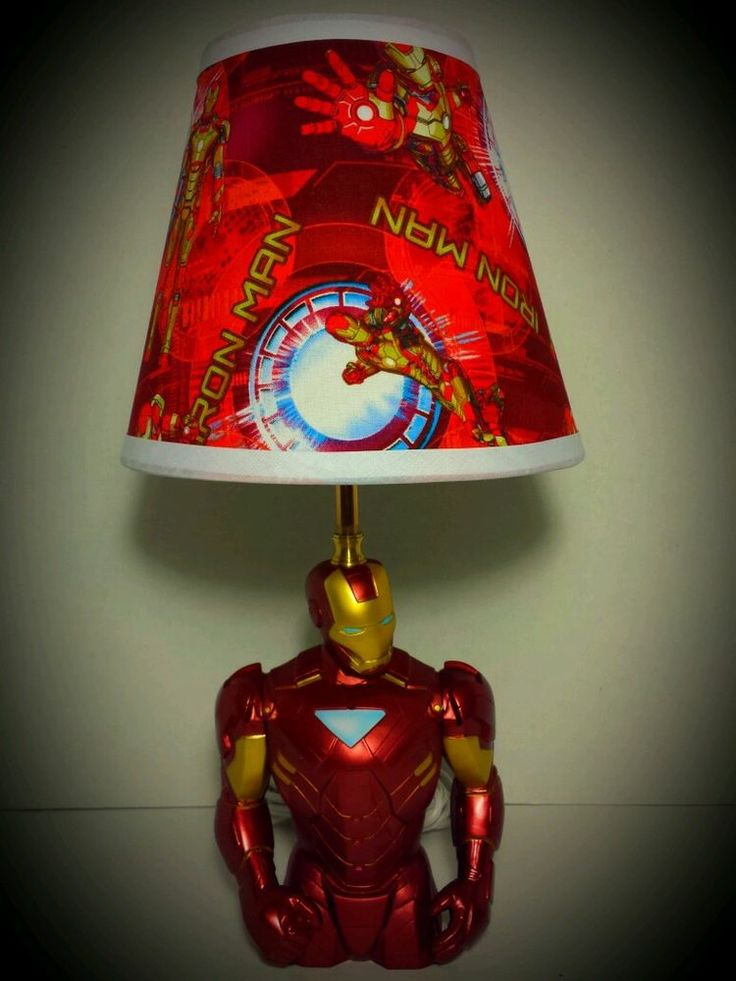 NEW Marvel Avengers Iron Man Lamp and Lampshade 17 Tall