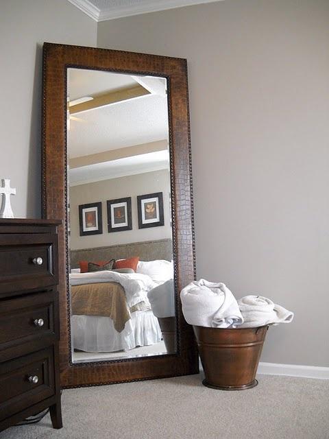 full length mirror for corner by dresserchange that random towel bin for some kind of cute