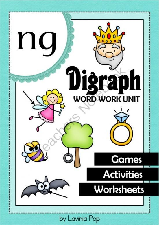 Ng Digraph Word Work Unit From Laviniapop On