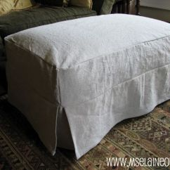 Pattern Sofa Covers Sectional Under 500 Dollars Simple Ottoman Slipcover With Corner Pleats Using Canvas ...