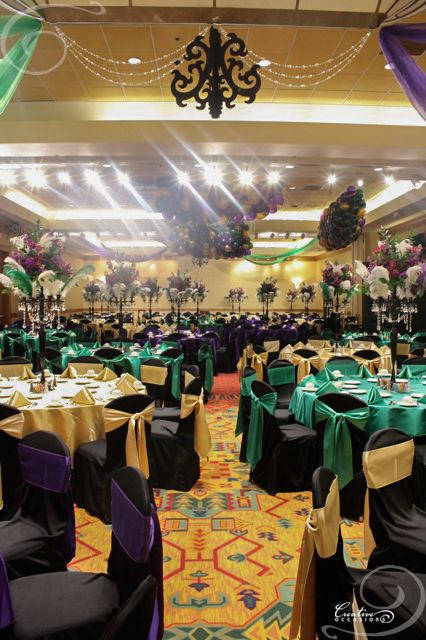 party rentals tables and chairs white arm chair don't really like look of same table cloth covers napkins | mardi gras ideas ...