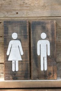 17+ best ideas about Restroom Signs on Pinterest | Laser ...