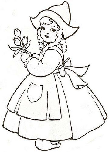 Tulip Coloring Page Tulips Coloring Page Wallpaper More