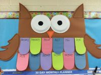 Owl birthday chart | PreSchool Themes | Pinterest ...