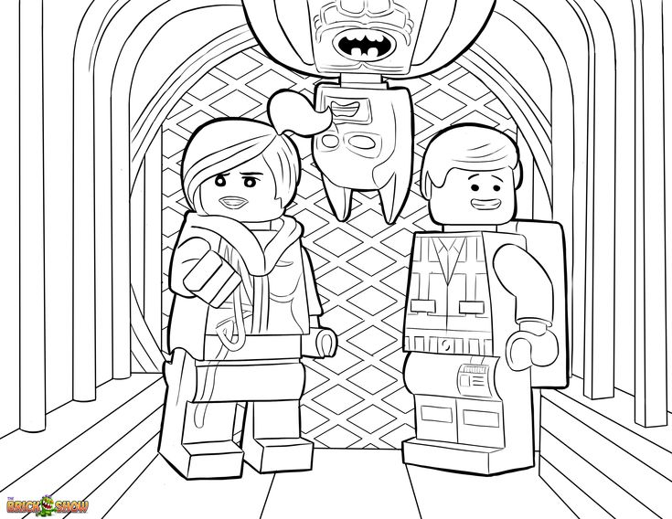 The LEGO Movie Coloring Page, LEGO Wyldstyle, Emmet