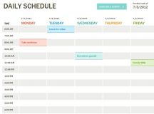 17 Best ideas about Daily Schedule Template on Pinterest ...